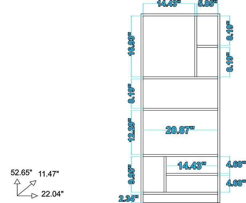 Valenca Bookcase 3.0