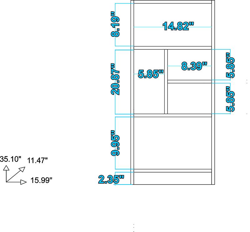 Valenca Bookcase 2.0