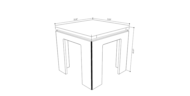 Bridge 1.0 Accent Side End Table