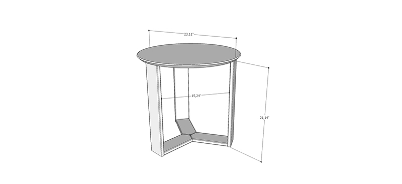 Madison 2.0 Accent Side End Table