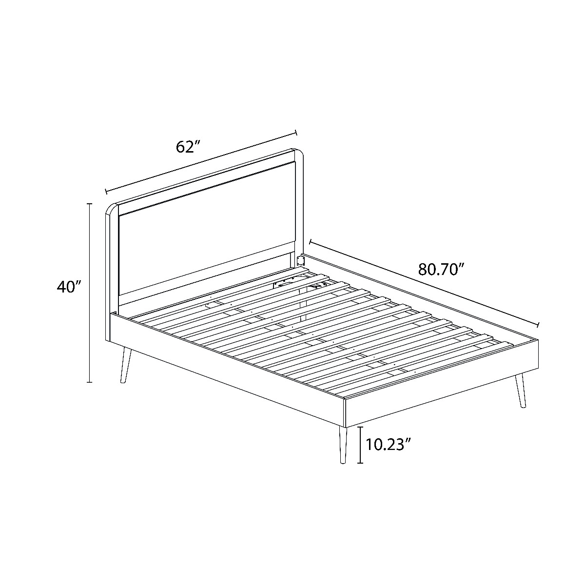 Bedford Queen-size Bedframe with Tufted Headboard
